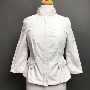 Burberry London Blazer Jacket Peplum Ruffle Hem